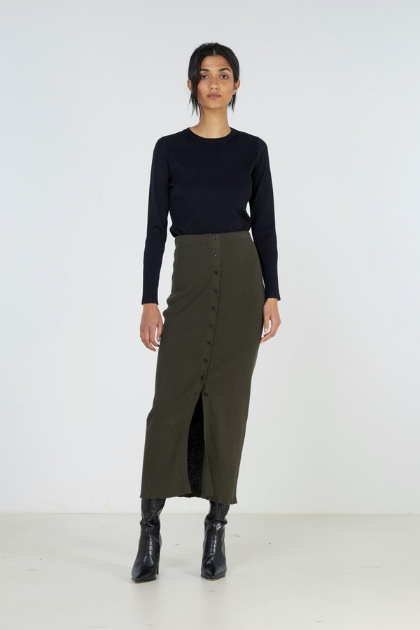 Elka Collective Element Knit Skirt Olive