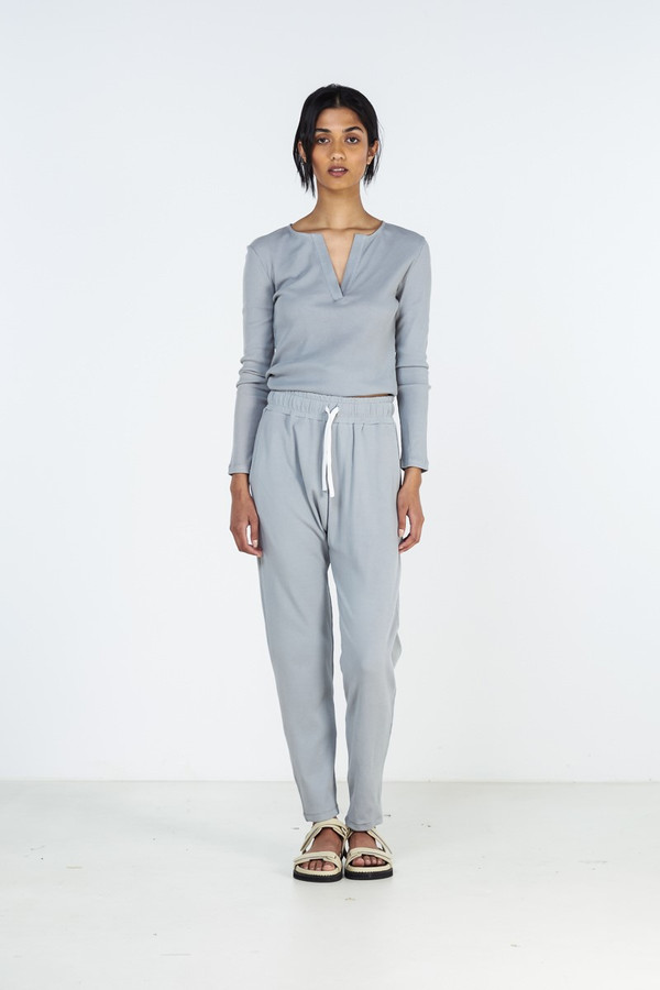 Elka Collective Winter Pj Set Dusty Blue