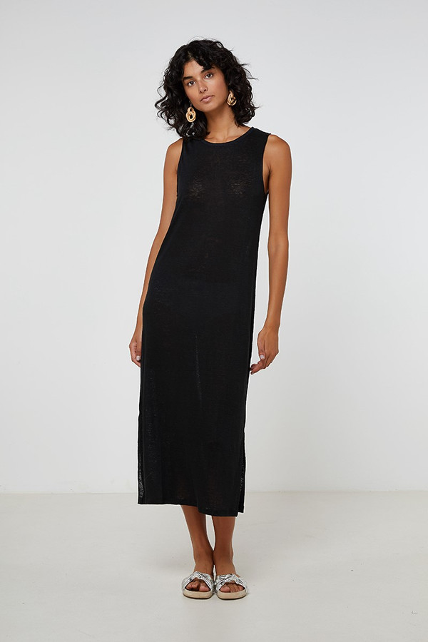 Elka Collective Ec Linen Tank Dress Black