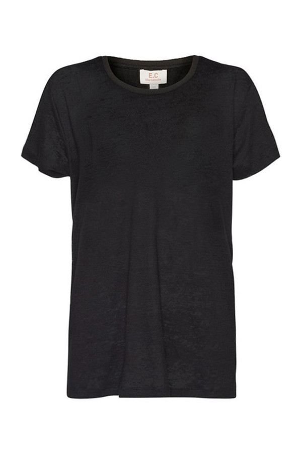 Elka Collective Ec Linen Crew Neck Tee Black