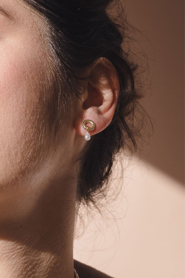 Elka Collective Flash Holiday Studs Gold