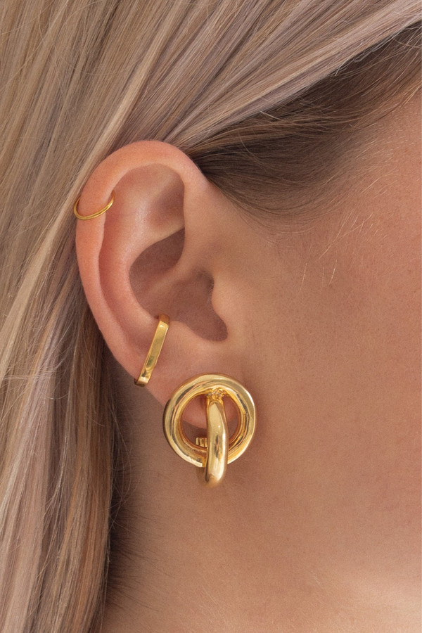 Elka Collective Flash Knot Hoops Gold