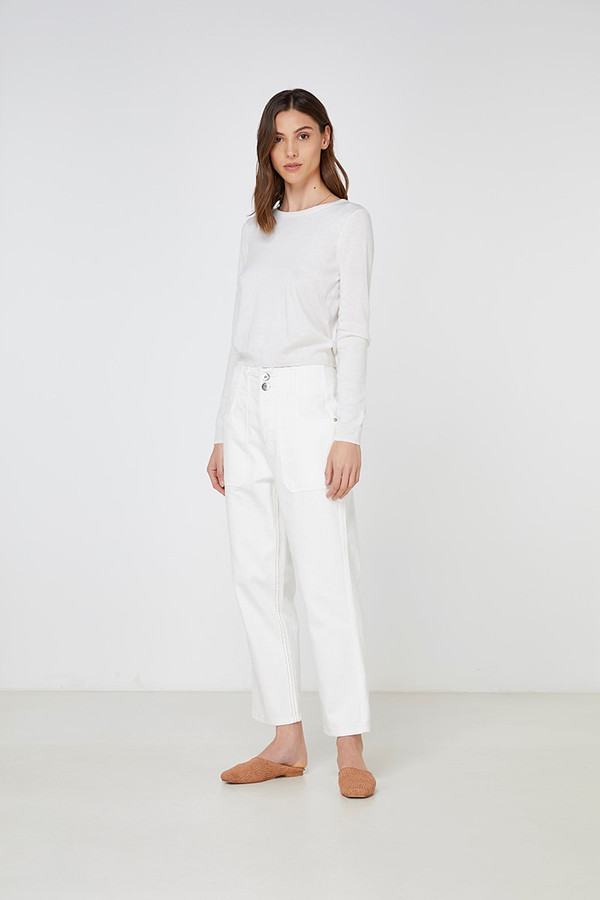 Elka Collective Gale Knit White