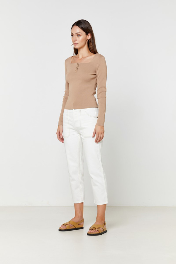 Elka Collective Shea Knit Top Camel