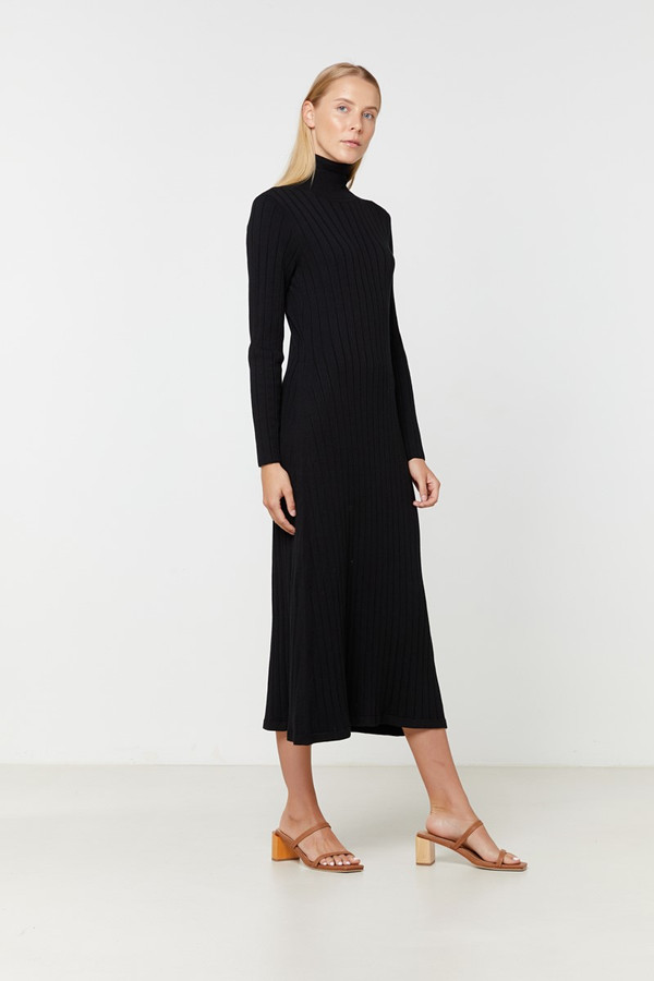 Elka Collective Eden Knit Dress Black