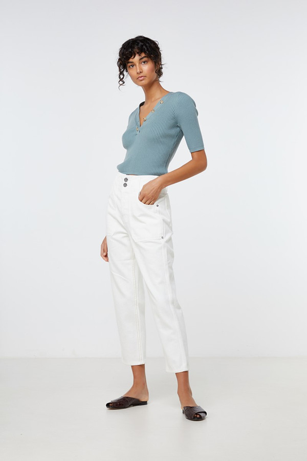 Elka Collective Sherry Knit Top Sage