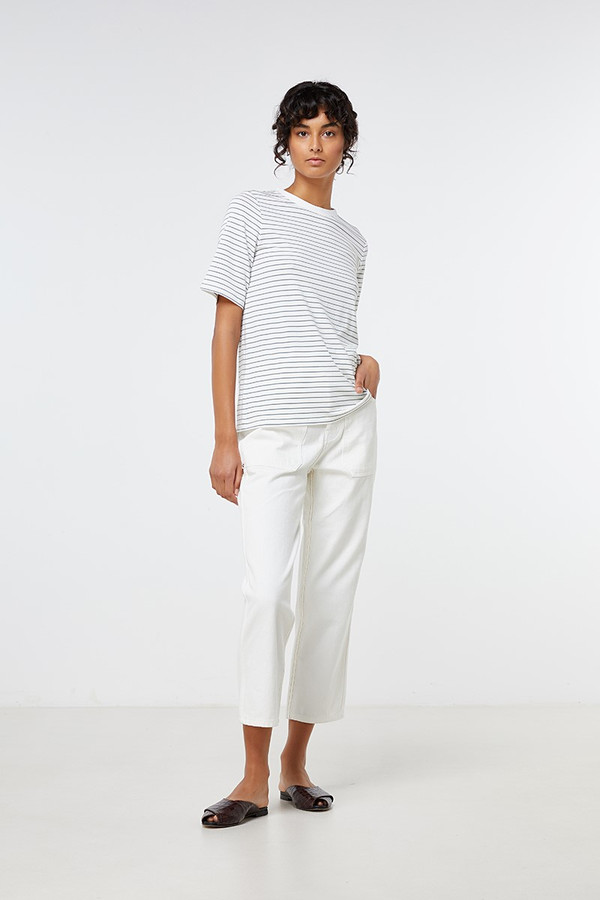 Elka Collective Kinsey Tee Sage Stripe