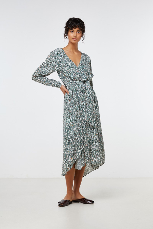Elka Collective Perri Midi Dress Speckled Print