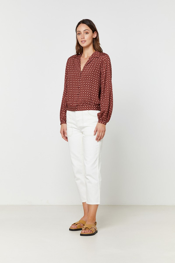 Elka Collective Rina Shirt Geo Spot