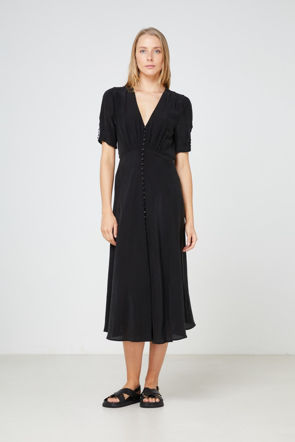 Elka Collective Rina Ss Dress Washed Black
