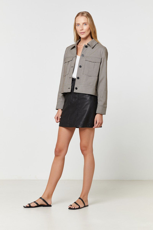 Elka Collective Henley Jacket Small Check