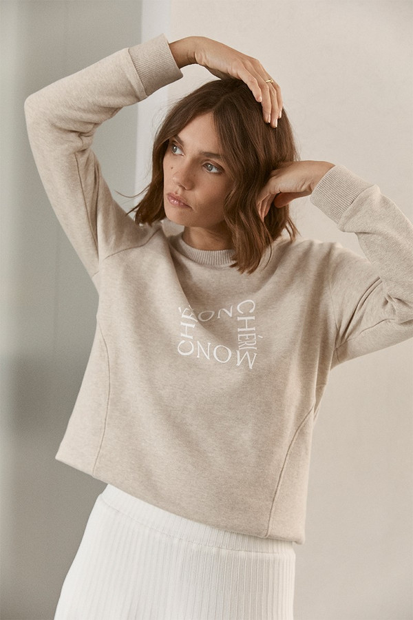 Elka Collective Mon Cheri Sweat Oatmarle