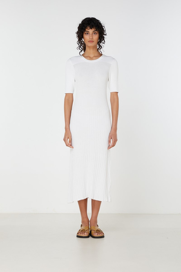 Elka Collective Chantilly Dress White