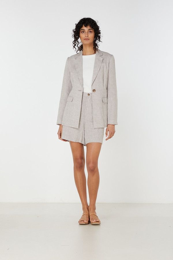 Elka Collective Georgina Blazer Dove Linen