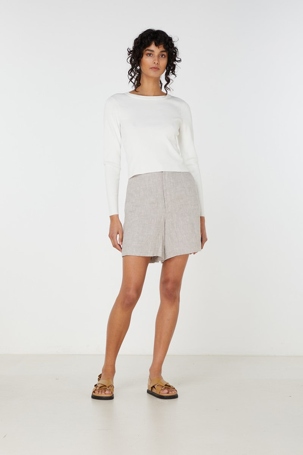 Elka Collective Imani Knit Top White