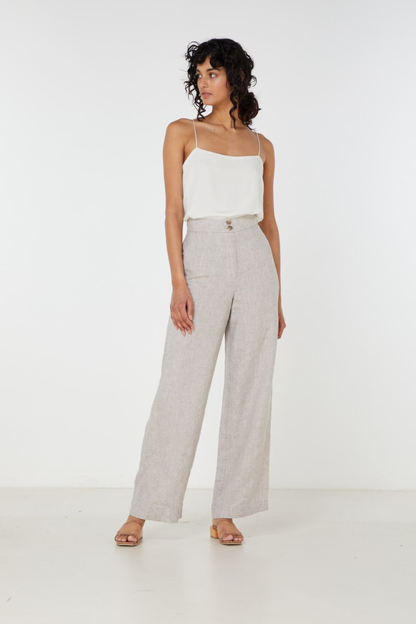 Elka Collective Georgina Pant Dove Linen