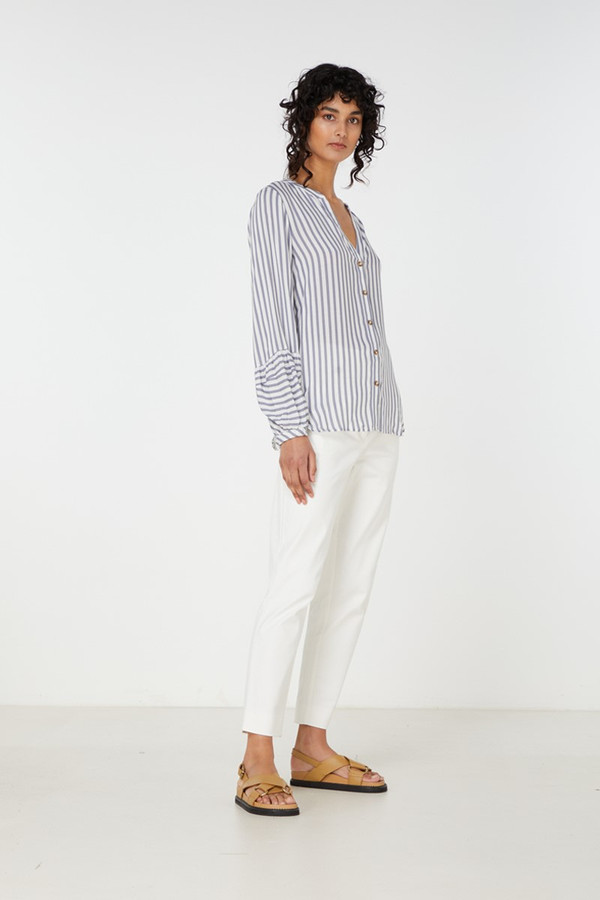 Elka Collective Leila Shirt Blue Stripe