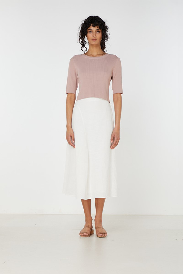 Elka Collective Airley Knit Top Dry Rose