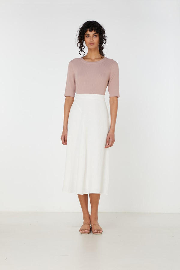 Elka Collective Rae Skirt Vanilla