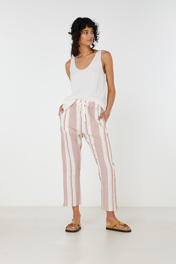 Elka Collective Adele Pant Rust Stripe