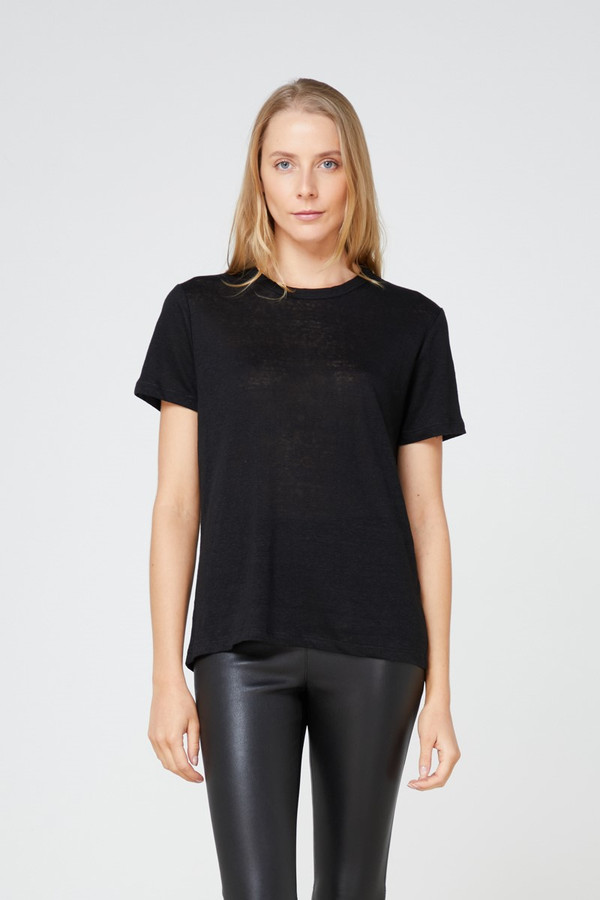 Elka Collective Ec Linen Crew Neck Tee 2.0 Black