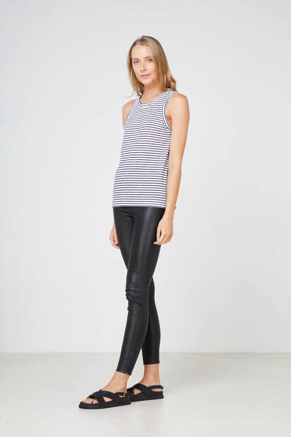 Elka Collective Ec Linen Tank 2.0 Navy Stripe