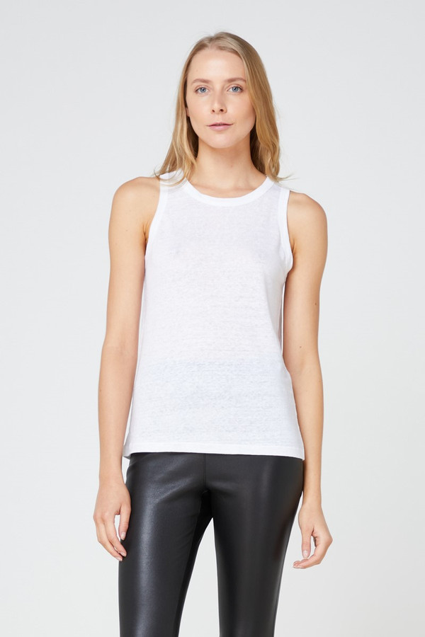 Elka Collective Ec Linen Tank 2.0 White