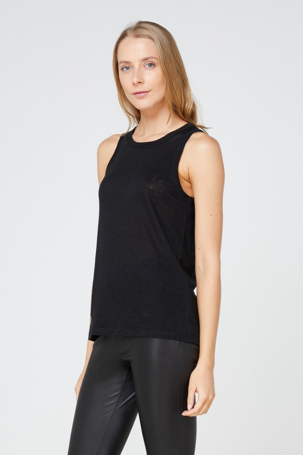 Elka Collective Ec Linen Tank 2.0 Black
