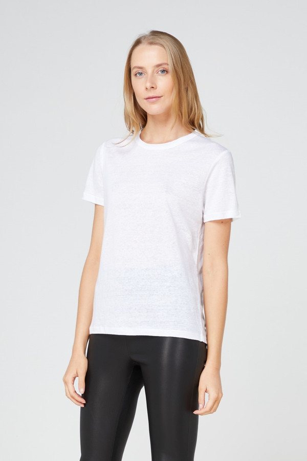 Elka Collective Ec Linen Crew Neck Tee 2.0 White