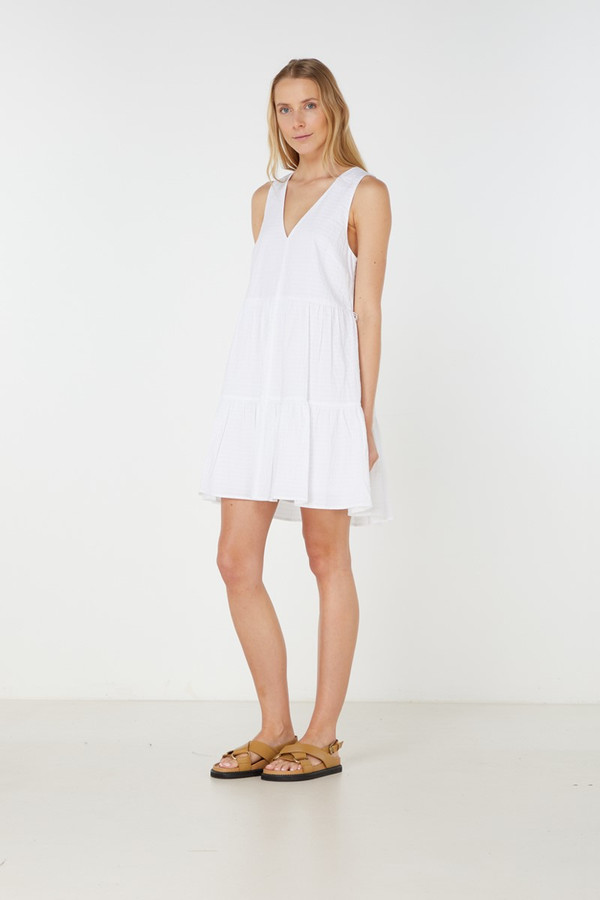 Elka Collective Willa Dress White