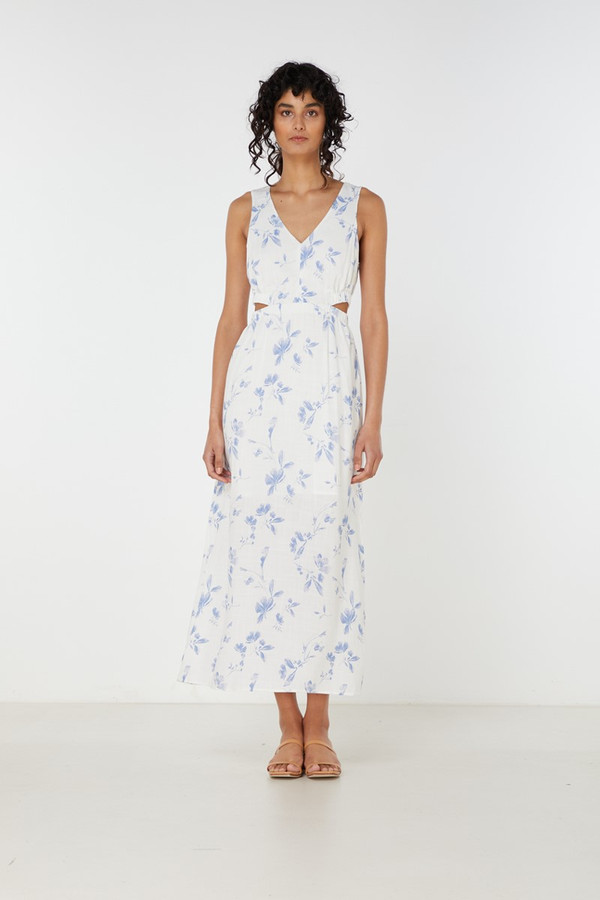Elka Collective Orlanda Dress Indigo Floral