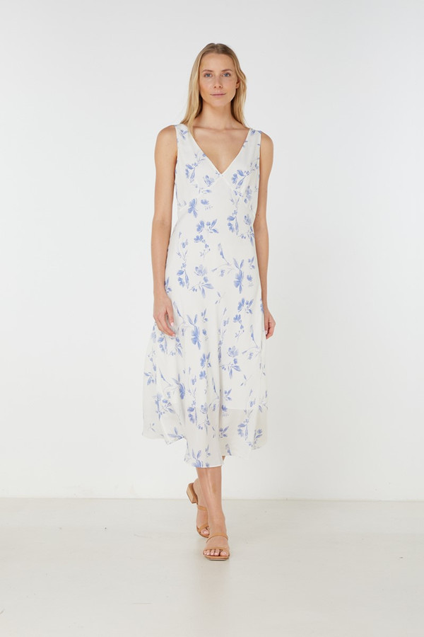 Elka Collective Orlanda Slip Dress Indigo Floral
