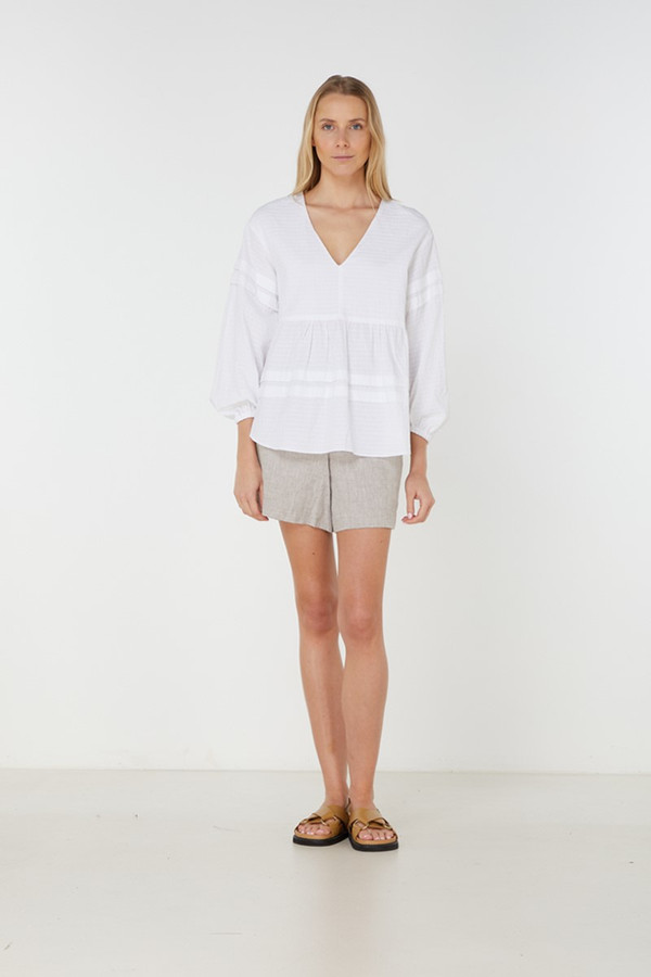 Elka Collective Willa Shirt White