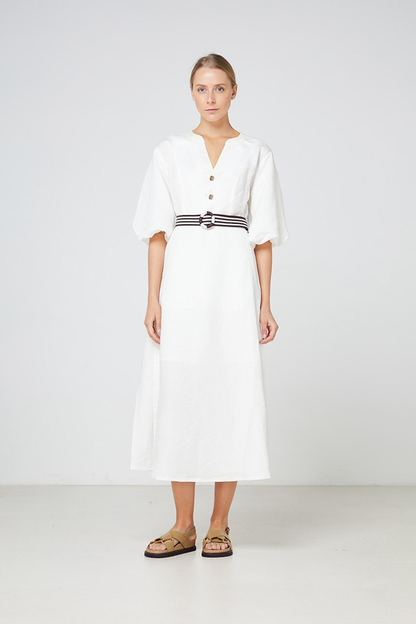 Elka Collective La Maddalena Dress White