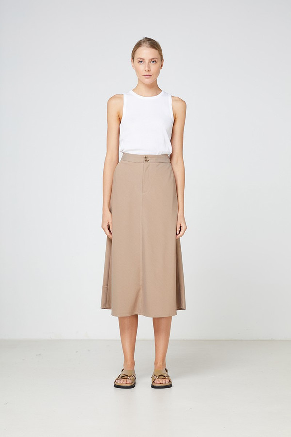 Elka Collective Lucini Skirt Taupe