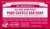 Dr Bronner's All-One Hemp Rose Pure-Castile Soap Bar