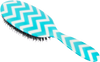 Rock & Ruddle Blue Chevron Hairbrush