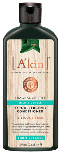 A'kin Unscented Wheat Free Very Gentle Conditioner - 225ml