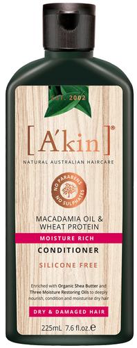 A'kin Macadamia & Wheat Protein Treatment Conditioner - 225ml