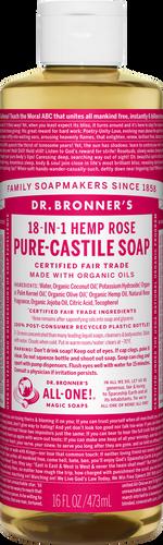Dr Bronner's 18-in-1 Hemp Rose Pure-Castile Soap - 946ml