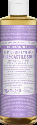 Dr Bronner 18-in-1 Hemp Lavender Pure-Castile Soap - 946ml
