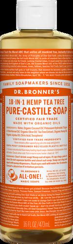Dr Bronner 18-in-1 Hemp Tea Tree Pure-Castile Soap - 946ml