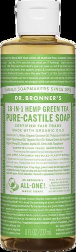 Dr Bronner's 18-in-1 Hemp Green Tea Pure-Castile Soap - 237ml