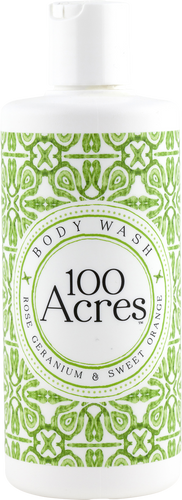 100 Acres Rose Geranium & Sweet Orange Body Wash