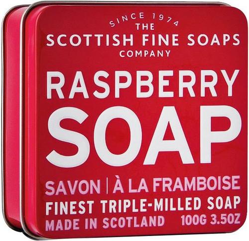 Scottish Fine Soaps Raspberry Soap Tin