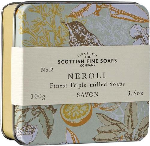 Scottish Fine Soaps Vintage Neroli Soap Tin