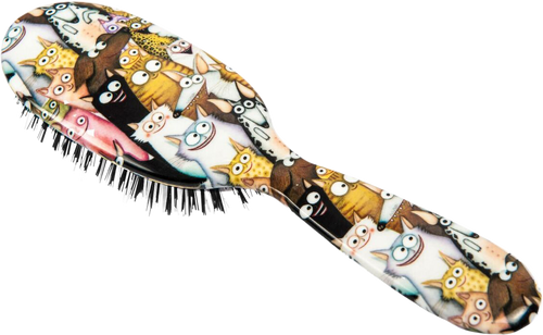 Rock & Ruddle Cats and Dogs Hairbrush