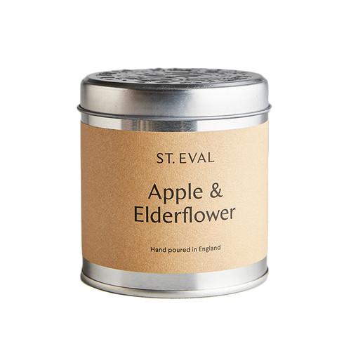 St Eval Candle Apple & Elderflower Tin Candle