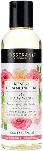 Tisserand Aromatherapy Rose & Geranium Leaf Body Wash