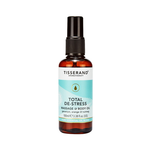 Tisserand Aromatherapy Total De-Stress Massage & Body Oil - 100ml